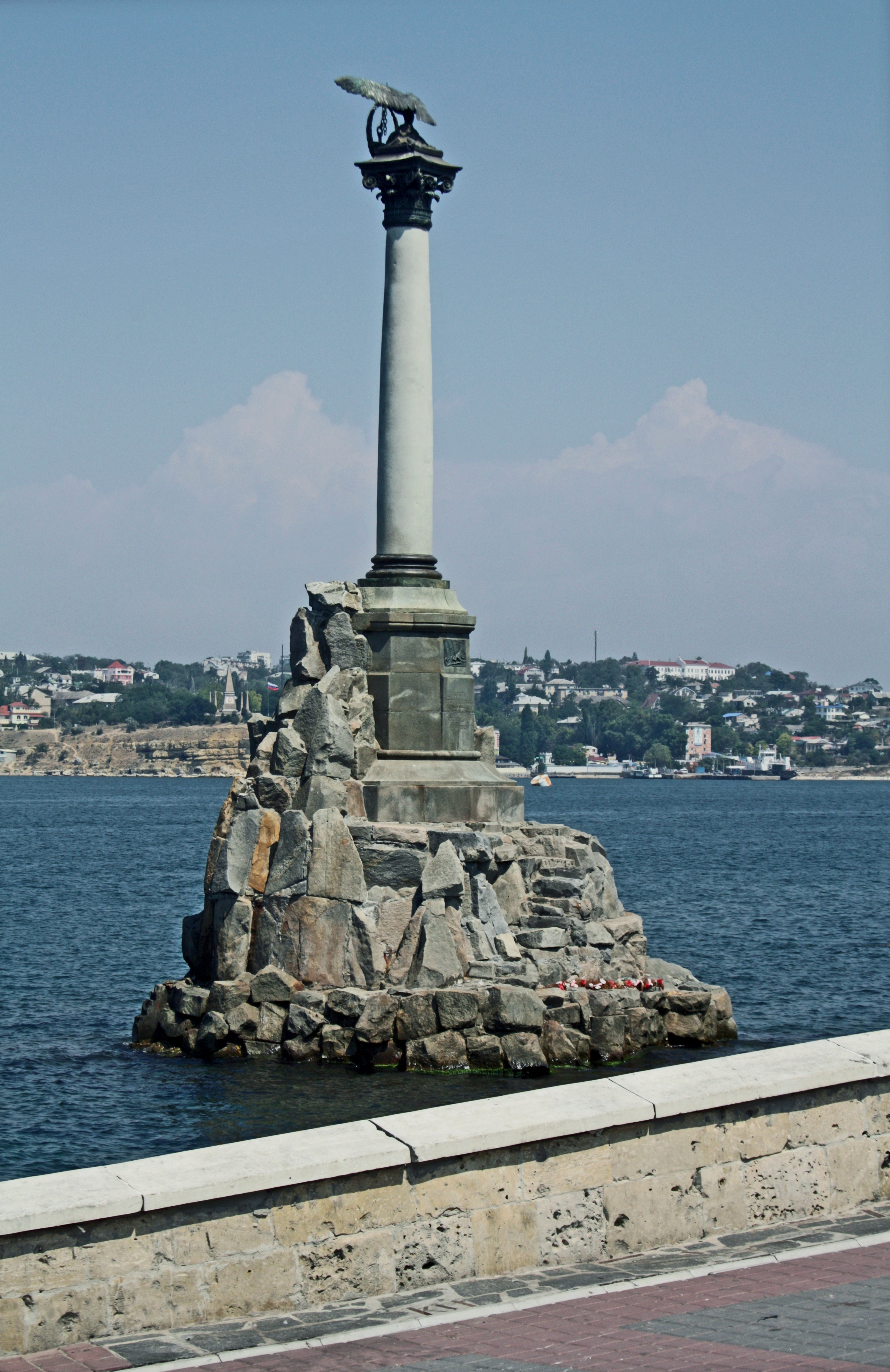 monument to the submerged ships Sevastopol photo