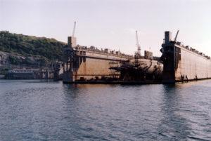 подводная лодка в доке